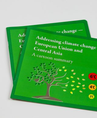 Addressing climate change: EU and Central Asia – A cartoon summary