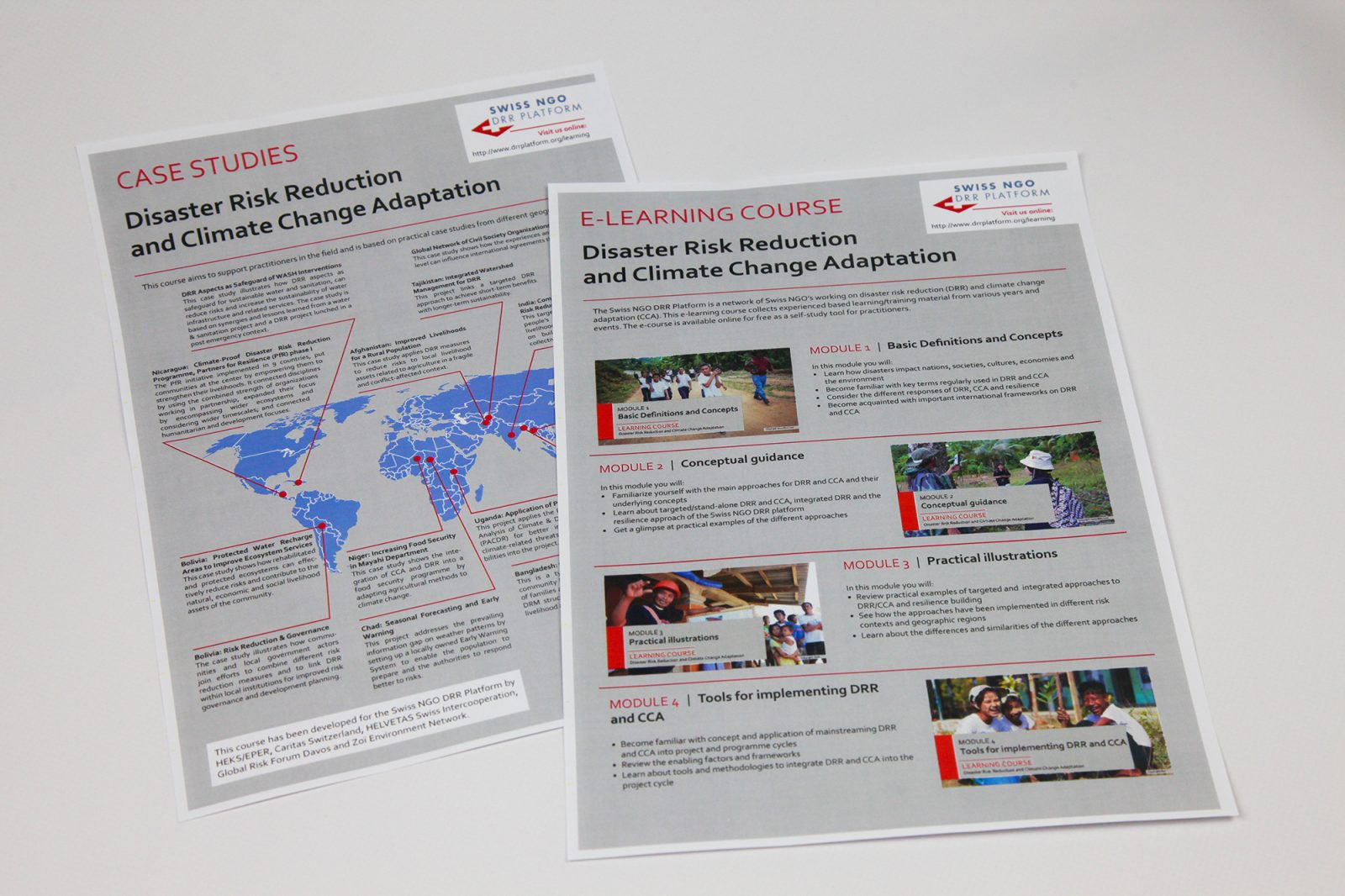 E-learning course: disaster risk reduction and climate change.