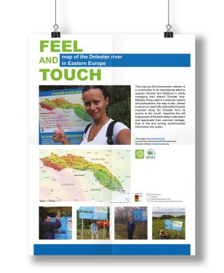Feel and Touch map of the Dniester river