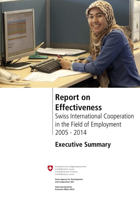Report on Effectiveness: Swiss International Cooperation in the Field of Employment EN Executive summary