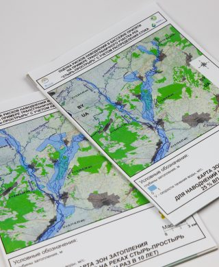 Maps of flood risks in the Styr-Prostyr river basin