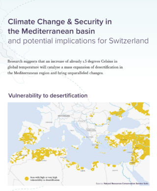 Climate Change & Security in the Mediterranean Basin and Potential Implications for Switzerland: A visual Scroll