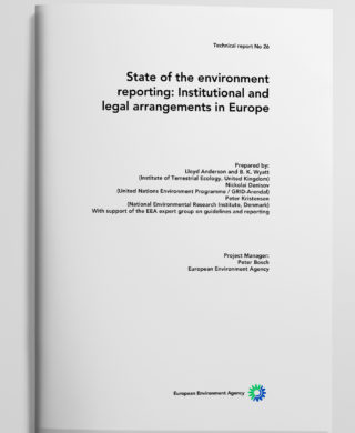 State of the environment reporting: Institutional and legal arrangements in Europe